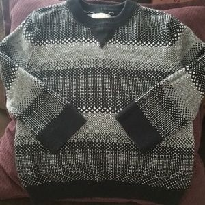 Cat&Jack boys black & gray pullover vneck sweater